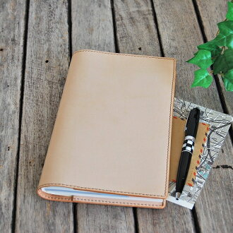 [size real leather notebook cover for oneself notebooks] [OK]