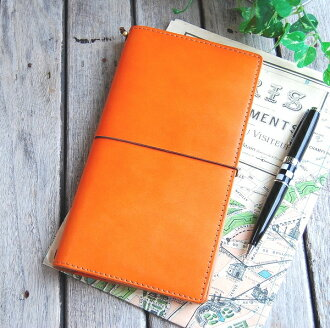 Leather traveler's notebook cover Passport case [OK]