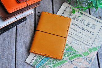 [Leather traveler's notebook passport size for cover, passport case] [OK]