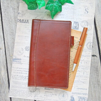System Handbook Bible slim 8 mm ring leather pocketbook / leather system Handbook made in Japan natural leather day planner