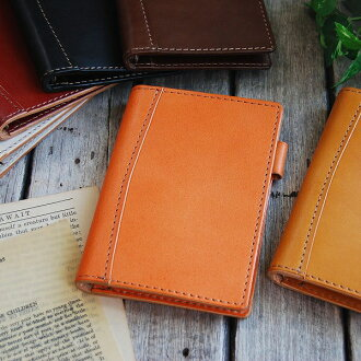 Leather system pocketbook ultra slim mini 6 hole pocket size: