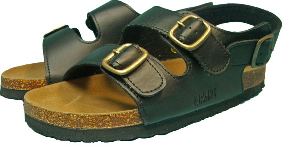 Special price for a limited time! Even though! Two belt Orthodox classic Sandals ラーキンス /LARKINS mens Sandals black 0545.