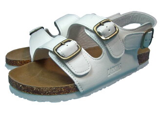 Special price for a limited time! Even though! Two belt Orthodox classic Sandals ラーキンス /LARKINS men's Sandals white 0545.
