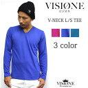 VISIONE/ビジオネVネック長袖Tシャツ 3Color カラー