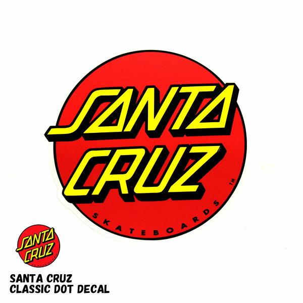 SANTACRUZ / サンタクルーズ ステッカー クラシックドット Classic Logo デカール スケート sk8 スケボー デカール マリア スクリーミングハンド グアダルーペ ジェイソンジェシー 西海岸 クラシックドット