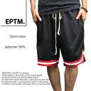 EPTM BASKETBALL SHORTS エピトミ ハーフパンツ EP8232 バスケットボール ショーツ バスパン 黒/赤