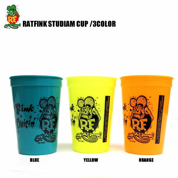RATFINK / ラットフィンク スタジアムカップ 3カラー オレンジ イエロー グリーンタバコ エドロス フィギュア ネズミ
