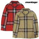 【あす楽対応】【montage 正規店】montage モンタージュ ネルシャツ 長袖シャツ 開襟シャツ BIG B CHECK SHIRT