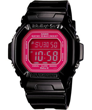 Baby-G watches Candy Colors Baby G Ladies watch Candy color black × pink BG-5601-1JF gift