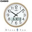 カシオ チャイムクロック 電波時計 壁掛け カレンダー付の大型タイプ◎時報や任意の時刻にチャイムを最大24回報音 IC-4100J-9JF