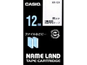 Nemurando tape Casio 12mm wide transparent tape / black letters XR-12X