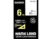 Nemurando tape Casio 6mm wide tape white / black letters XR-6WE