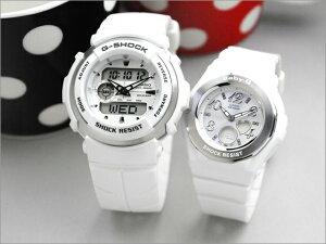 [あす楽]「二人の絆」Gショック ペアウォッチ 腕時計 ペア G-SHOCK & Baby-G ホワイトのペア ウォッチ カシオ G-300LV-7AJF-BGA-100-7BJF [ カップル ペア ブランド ] 日本国内送料無料 %OFF 28350