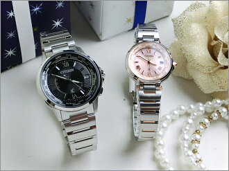Bonds of love citizen cloth-ハッピーフライトペアウオッチ bk &pi eco-drive radio watch CITIZEN XC HAPPY FLIGHT CB1020-54E_EC1014-65 W gift