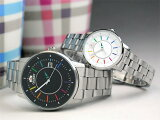 ペアウォッチ オリエント スタイリッシュ&スマート ディスク レインボーbkwh 機械式 WV0761ER+WV0011NB 46,0 【ペアカップル 腕時計 ペア カップル ウォ