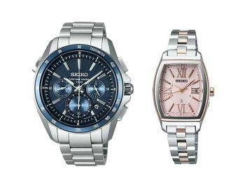 セイコー腕時計ソーラー電波ルキア&ブライツペアウォッチSEIKOSAGA161+SSVW030173,0【腕時計ペアカップルブランドウォッチペアウォッチ】