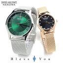 スイスミリタリー プリモ ペアウォッチ メッシュベルト green-bk SWISS MILITARY PRIMO ML436-ML437 39,0 腕時計 ペア