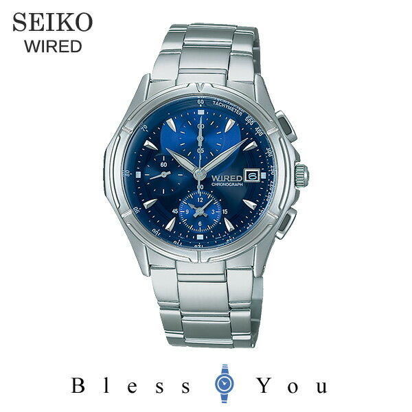 Seiko wired watch chronograph blue WIRED AGBV141