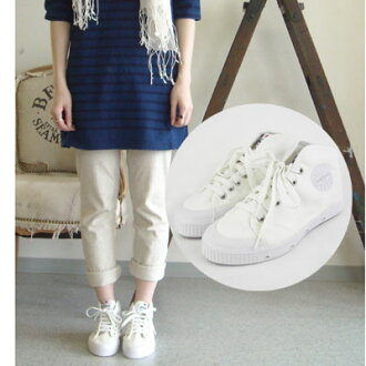 Spring Court (topcoat) canvas sneakers and B1 MID CUT FEN W