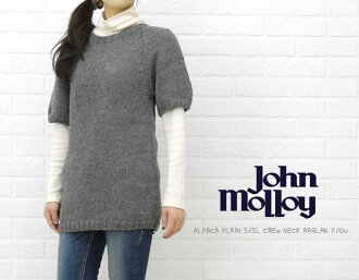 JOHN MOLLOY( John Molloy) ALPACA PLAIN S/SL CREW NECK RAGLAN P/OV, NJM0592-0341102