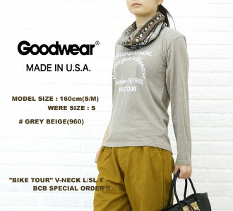 "■ ■ ☆ ☆ Another BCB note * GOODWEAR (good are) ""BIKETOUR"" size: V-NECKL/SLT, NGW1151G0055-0341201"