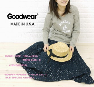 "☆ ☆ Another BCB note * GOODWEAR (good are) ""MAIDENVOYAGE"" size: V-NECKL/SLT, NGW1151G0765-0341201"