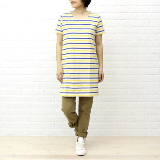 ■ ■ BCB another note * ORCIVAL (オーチバル-オーシバル) cotton border short sleeve U neck piece (solid & border)-B204-0321301