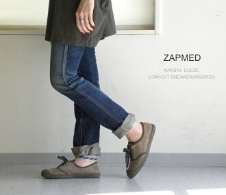 ZAPMED (ザップメット) NAR610 SUEDE LOW-CUT SNEAKER (WASHED)-NZP1001