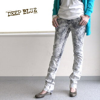 DEEP BLUE( Deep Blue) chemical wash skinny pants .73455