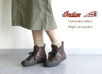 INDIAN( Indian) canvas & leather higher frequency elimination sneakers, ID -548