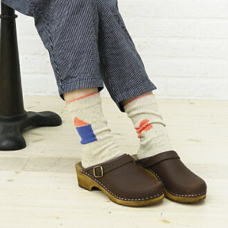 "■ ■ French Bull (French Bull) コットンリネン short socks ""House and flowers socks"" & 113-195-1851301"