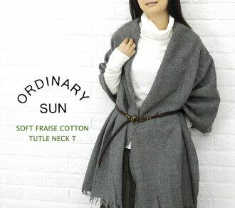 ORDINARY SUN( ordinary sun) cotton T-cloth long sleeves turtleneck T-shirt, BCT-007-2721202