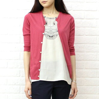 kanade (here) from rice cotton 7-sleeve crew neck Cardigan-63050-2001301