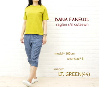 Dana Faneuil (ダナファヌル) uniform yarn Raglan short sleeve shirt-D-525202-0231202