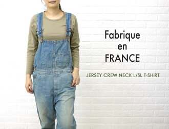 Fabrique en FRANCE( ファブリケ Ann France) cotton long sleeves crew neck T-shirt, NMF1251-0341202