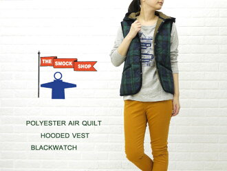 ■ ■ THE SMOCK SHOP (smock shop) polyester quilted fleece lined hood with best (Black Watch) and SS-8249PC-0321202