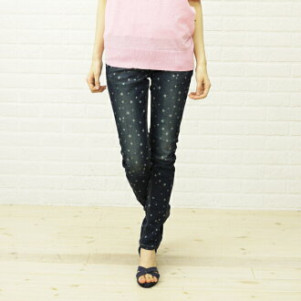 Betty Smith Betty Smith ベティースミス stretch denim dot star pattern skinny pants BAB 1055A-1981301 fs3gm