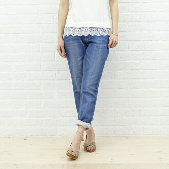 Nieve( ニエベ) cotton wet Kinney denim underwear .031618-1361301