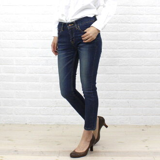 "Cotton stretch ankle length skinny denim ""DENIM EVELYN""-BL-005-1981302"