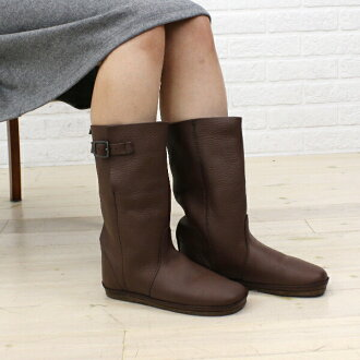 Middle Koos (course) Buffalo leather belted boots-NINA-M-0241302
