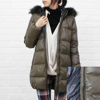 "Hood middle-length coat with fur DUVETICA (duvetica down) nylon down ""KAPPA"", KAPPA-0061302"