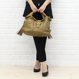 "TOFF &LOADSTONE (tough & ロードストン) goat leather handbag with fringe ""marché""-TL-0640-1471302"