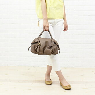 "PotioR (ポティオール) goat leather 2-way Boston bag ""CREMA BOSTON""-GO-0006SS-2701302"