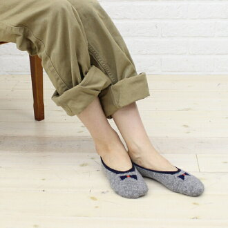 "French Bull (French Bulldog puppy) wool Angora Blend foot cover socks ""リボンカバー""-111-156-1851302"