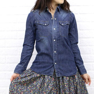 D.M.G Brocante (ドミンゴブロカント) cotton denim Montagne t-shirt (27-9), 38-035 E-A-1271302