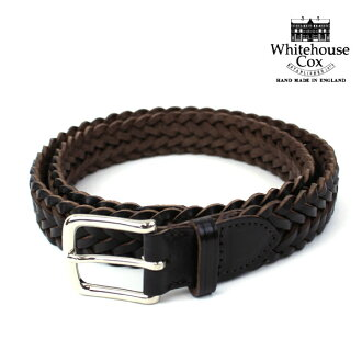■ ■ Whitehouse Cox (Cox White House) フルグレインカウハイドレザー mesh belt and P1127-1831302.