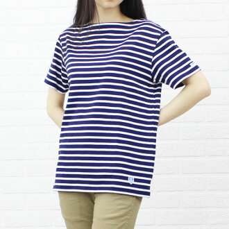 ORCIVAL( オーチバル オーシバル) cotton horizontal stripe short-sleeved boat neck cut-and-sew, RC-6774-0321301