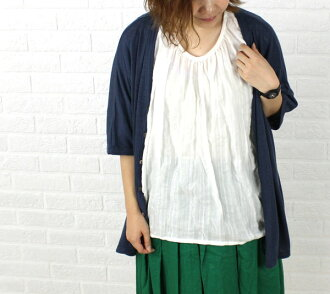 TRAVAIL MANUEL (トラヴァイユマニュアル) Tencel cotton Dolman sleeve pullover blouse-341036-3261401