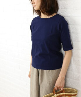 Dana Faneuil (ダナファヌル) cotton neck half sleeve cut & sew-D-5311204-0231301