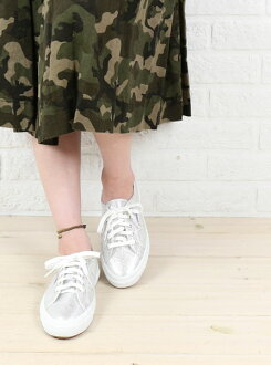 "SUPERGA (Superga) cotton canvas lame low-cut sneakers ""2750 LAMEW""-S001820-0241301"